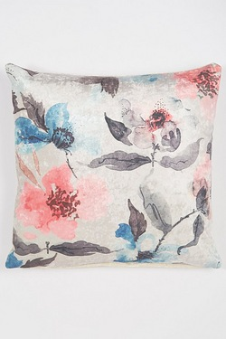 Set Of 2 Floral Printed Velvet Cushion Covers