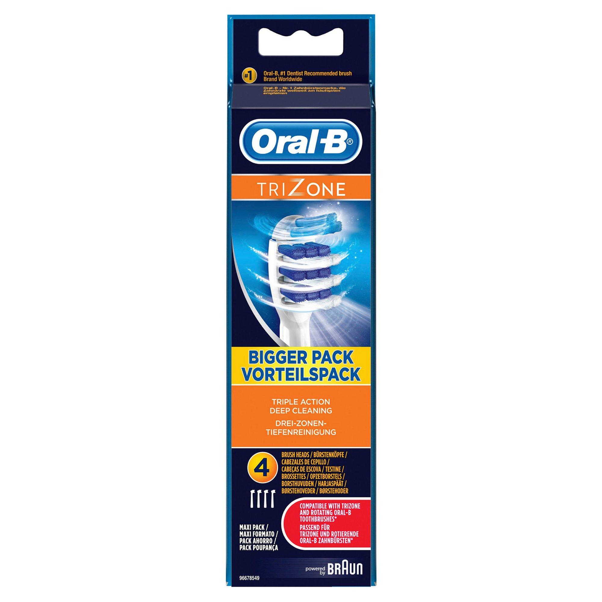 Image of Oral B Pack of 4 Trizone Brush Heads