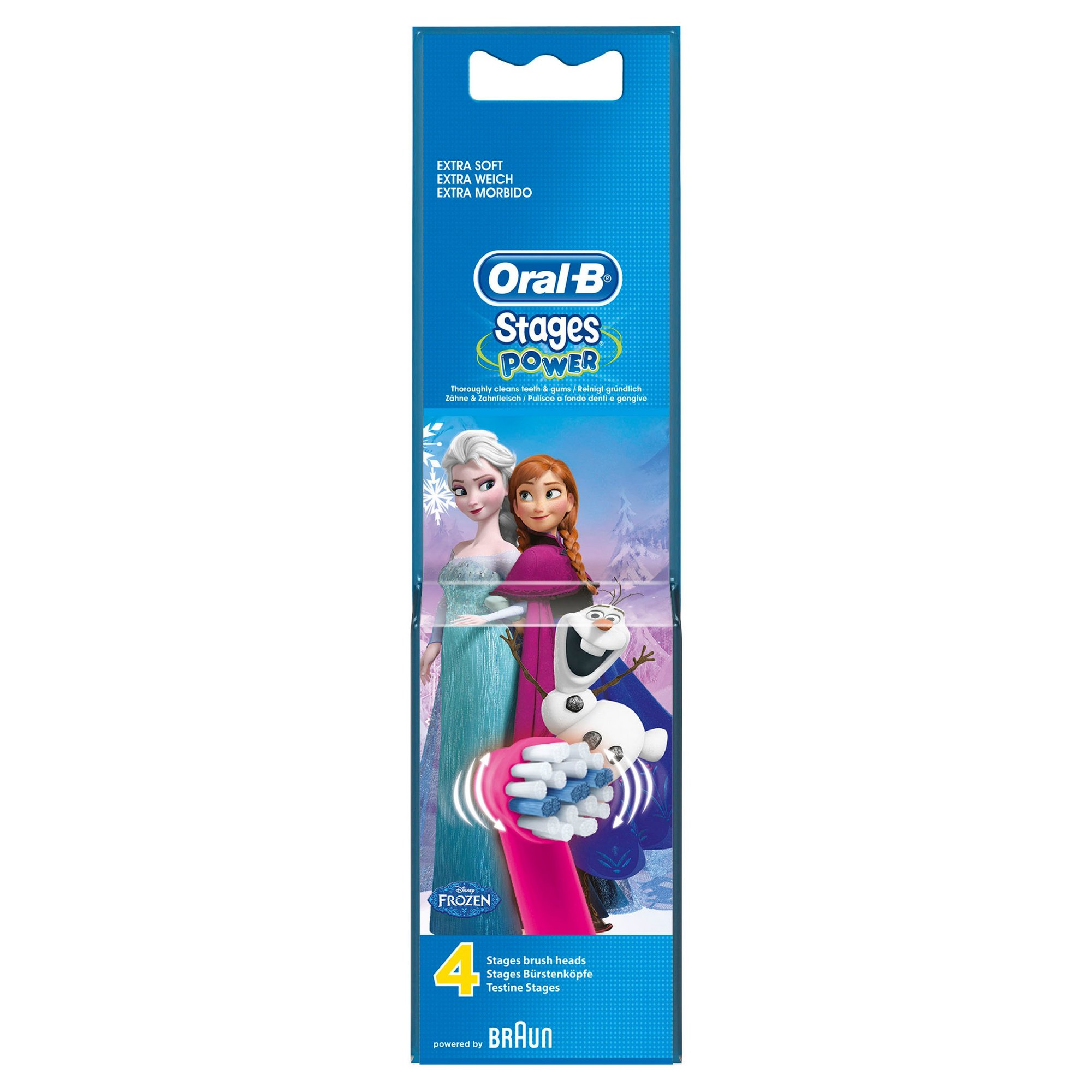Image of Oral B Pack of 4 Disney Frozen Brush Heads