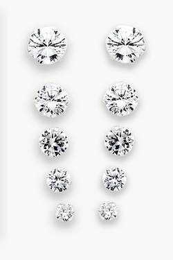 Sterling Silver and Cubic Zirconia Earring Gift Set