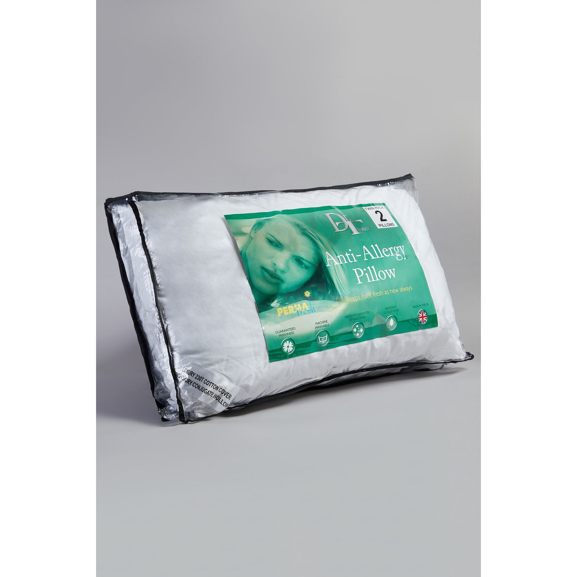 Image of Dr Twiner Anti Allergenic Pillow Pair