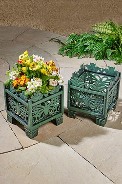 Set Of 2 Butterfly Planters