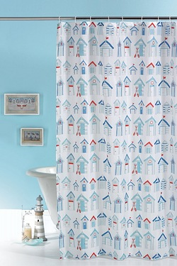 aqua coloured bathroom accessories. Beach Hut Shower Curtain Bathroom Accessories  Studio