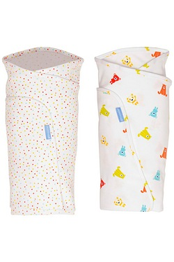 Hip Healthy Swaddle Spotty Bear Twin Pack