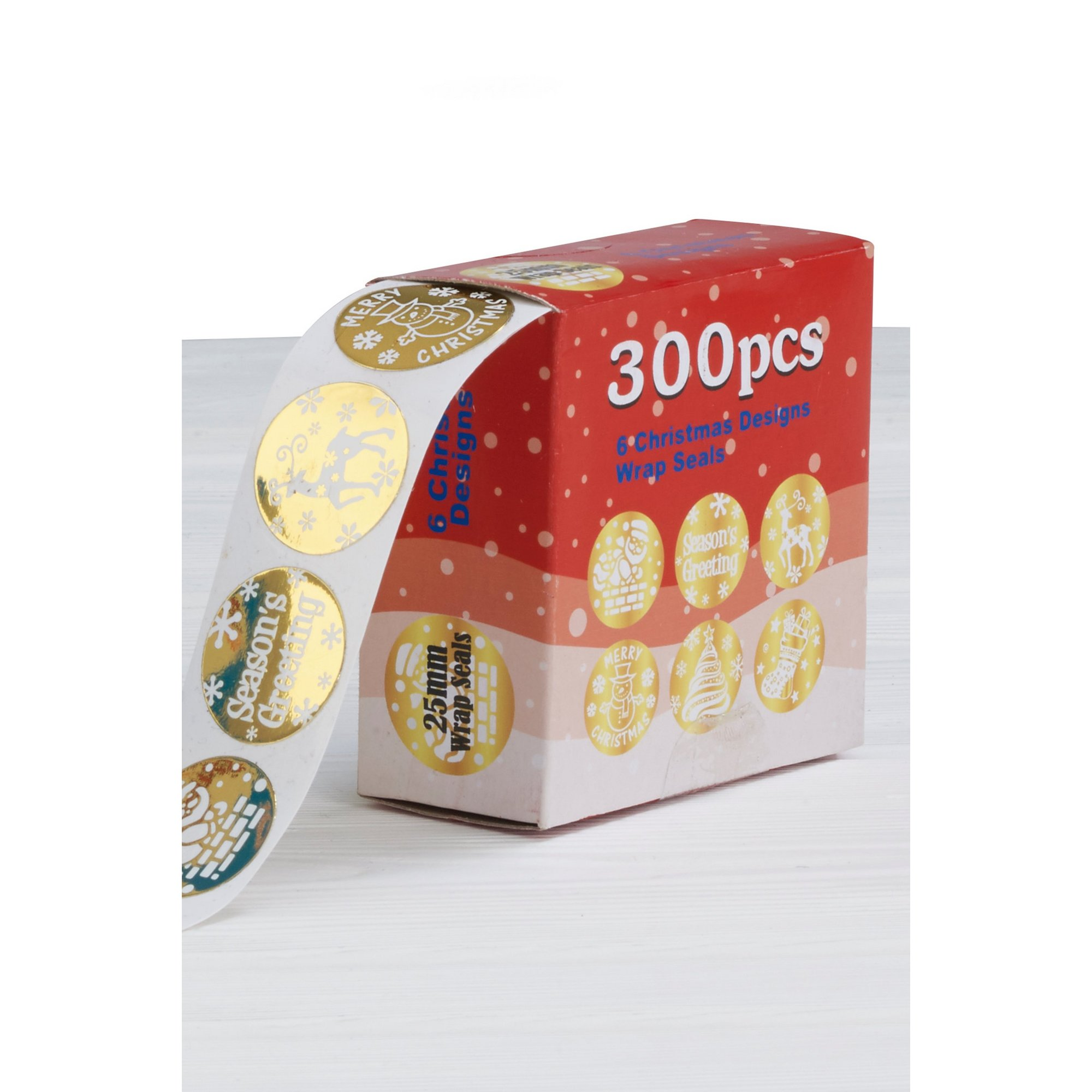 Image of 300 Christmas Wrap Gold Seals
