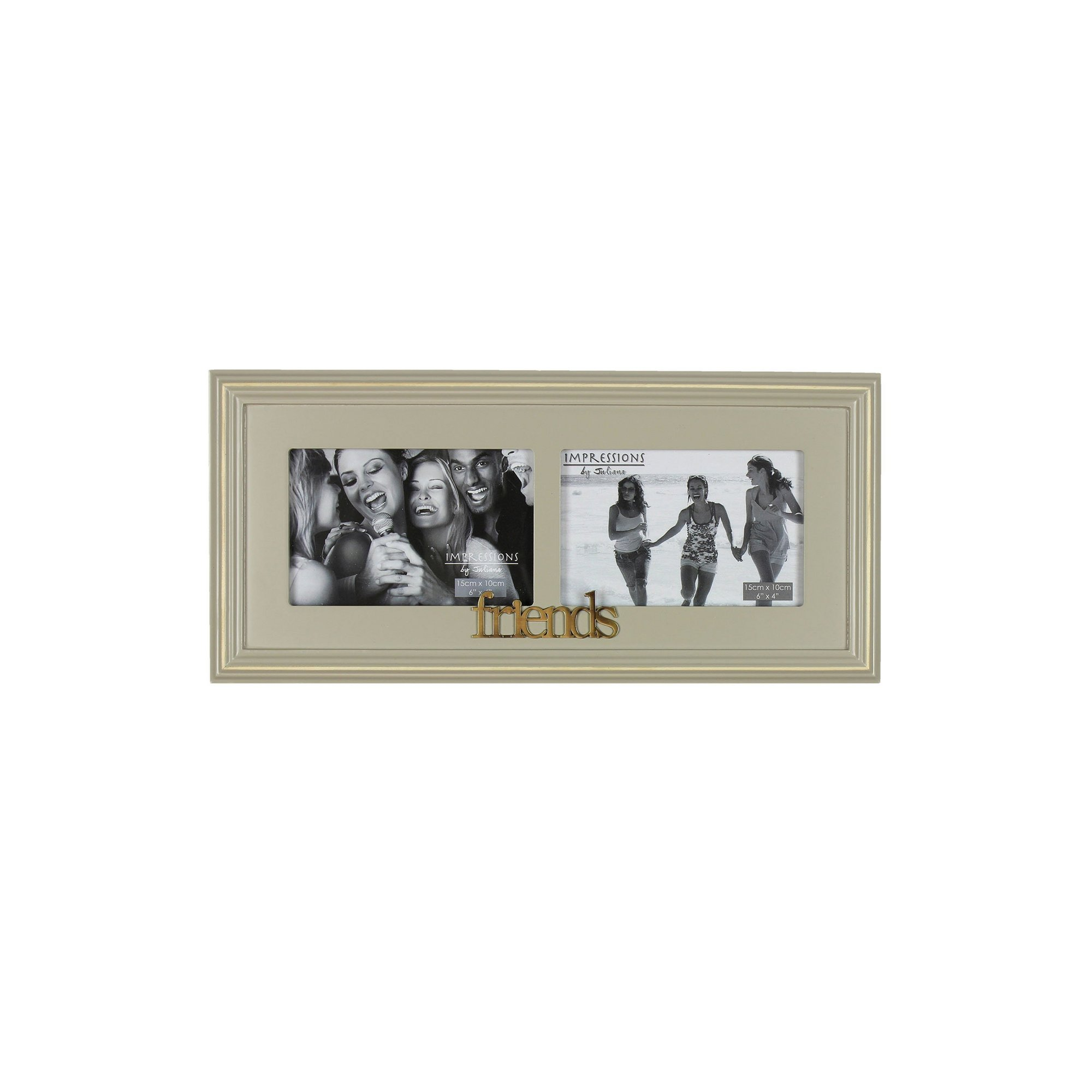 Image of Juliana Wooden Double Photo Frame Friends
