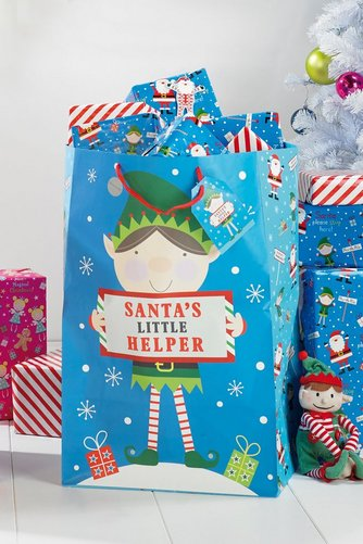 Image For Giant Blue Elf Gift Bag From Studio
