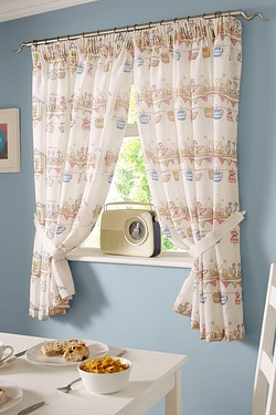Happy Ducks Kitchen Curtains