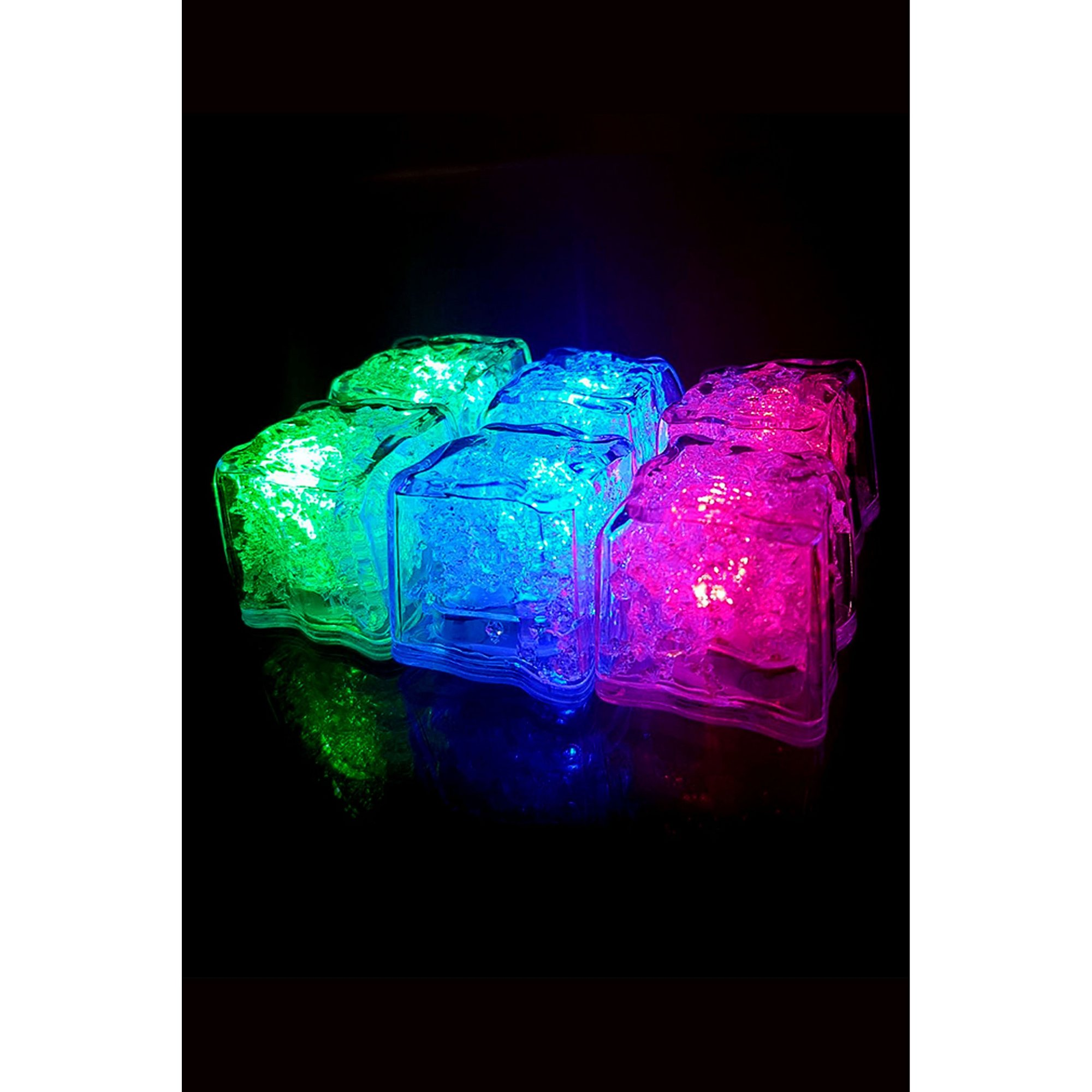 Image of Mixology Flashing Ice Cubes - 6 Pack
