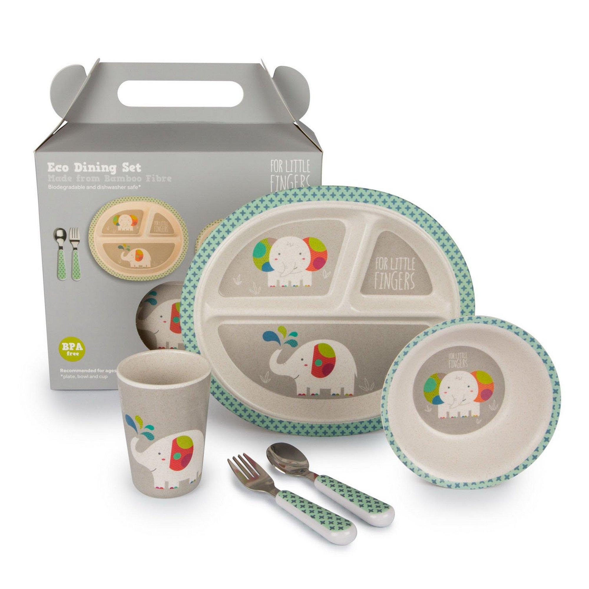Image of For Little Fingers: Elephant Dinner Set