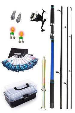 Fladen Beach Rod Reel and Tackle Set