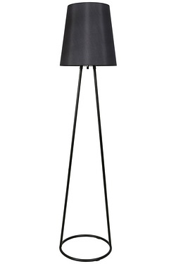 Markham Black Frame Floor Lamp with Black Shade