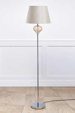 Luton Cream Glass Floor Lamp