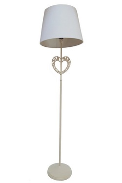 Pectus heart shaped Cream Floor Lamp