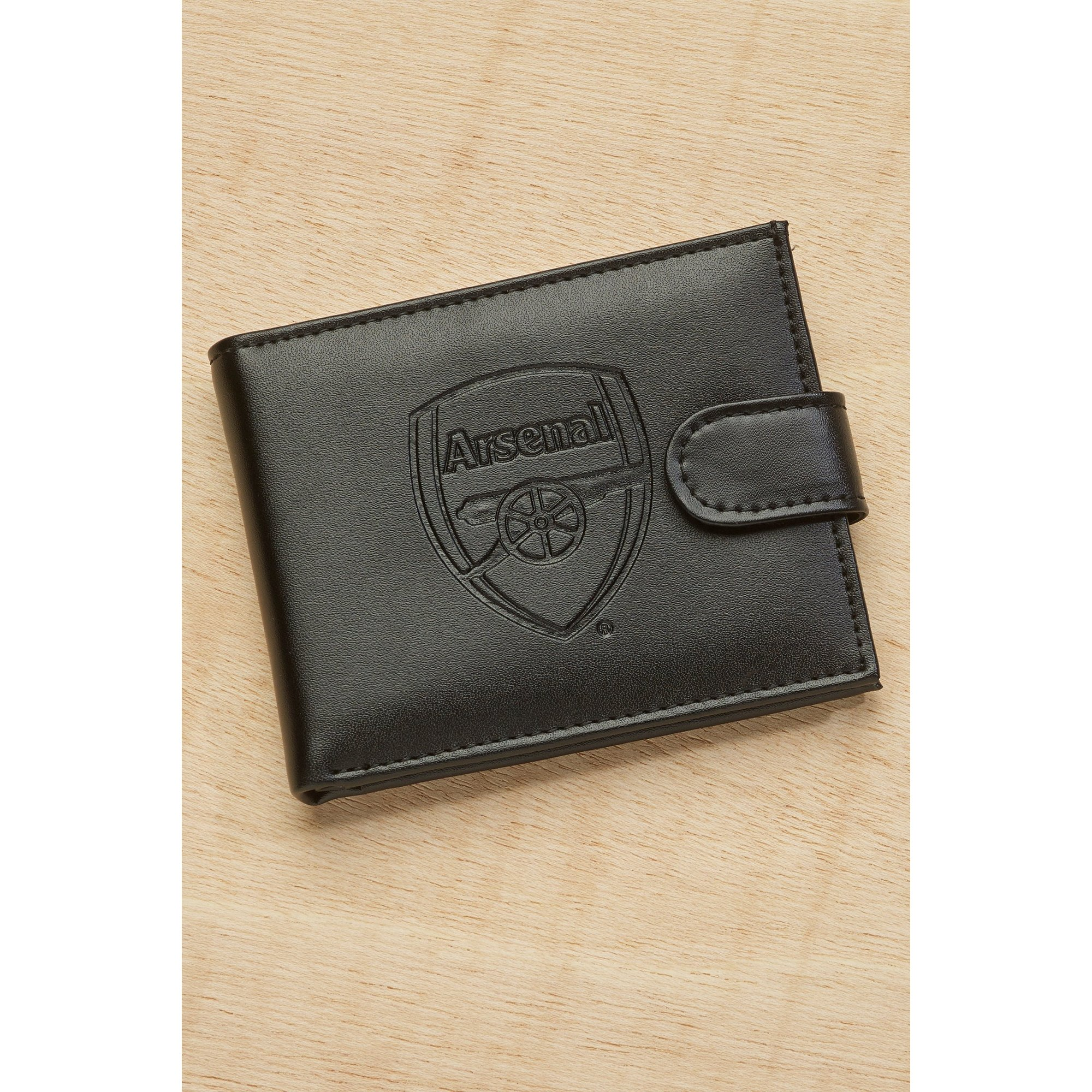 Image of Arsenal FC Embossed Leather Wallet