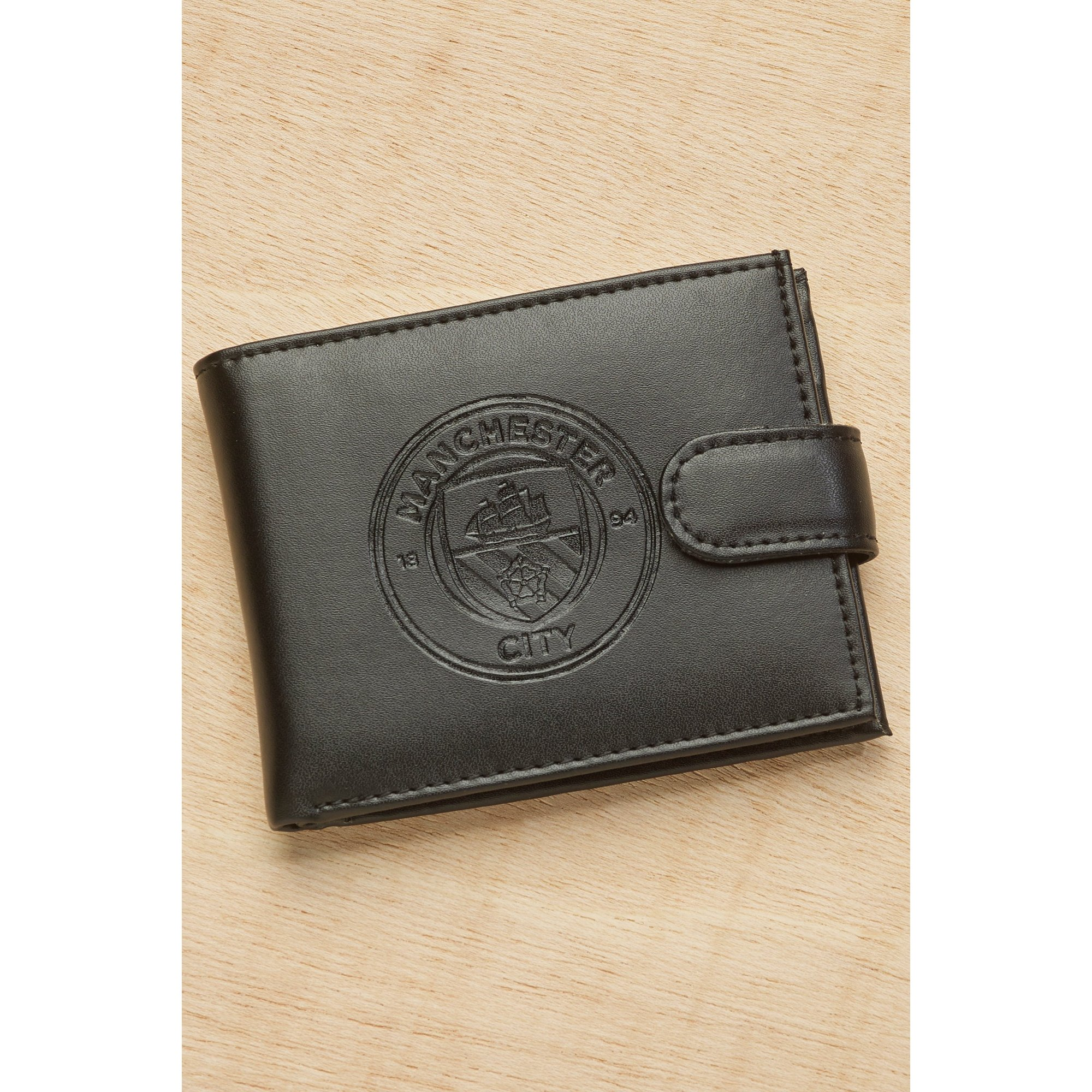 Image of Embossed Leather Wallet - Manchester City FC