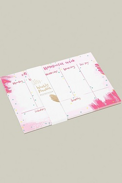 Hello Neon Luxury Weekly Desk Planner
