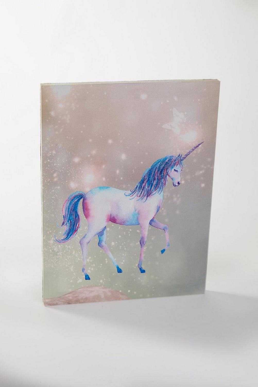 Image for Glitter Unicorn LED Canvas from studio