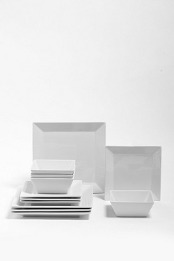 12 Piece Soho White Square Dinner Set  sc 1 st  Studio & Dinner Sets | Plate Sets Table u0026 Dinnerware | Studio