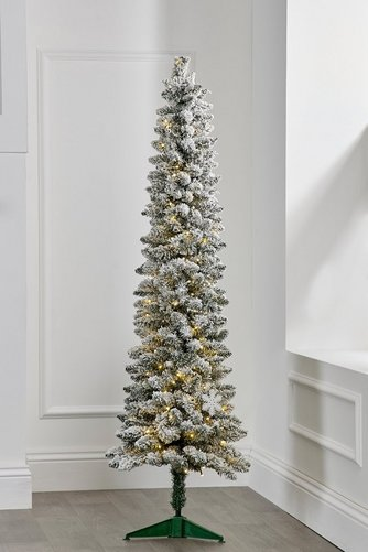 Pre Lit Snow Covered Pencil Christmas Tree Studio