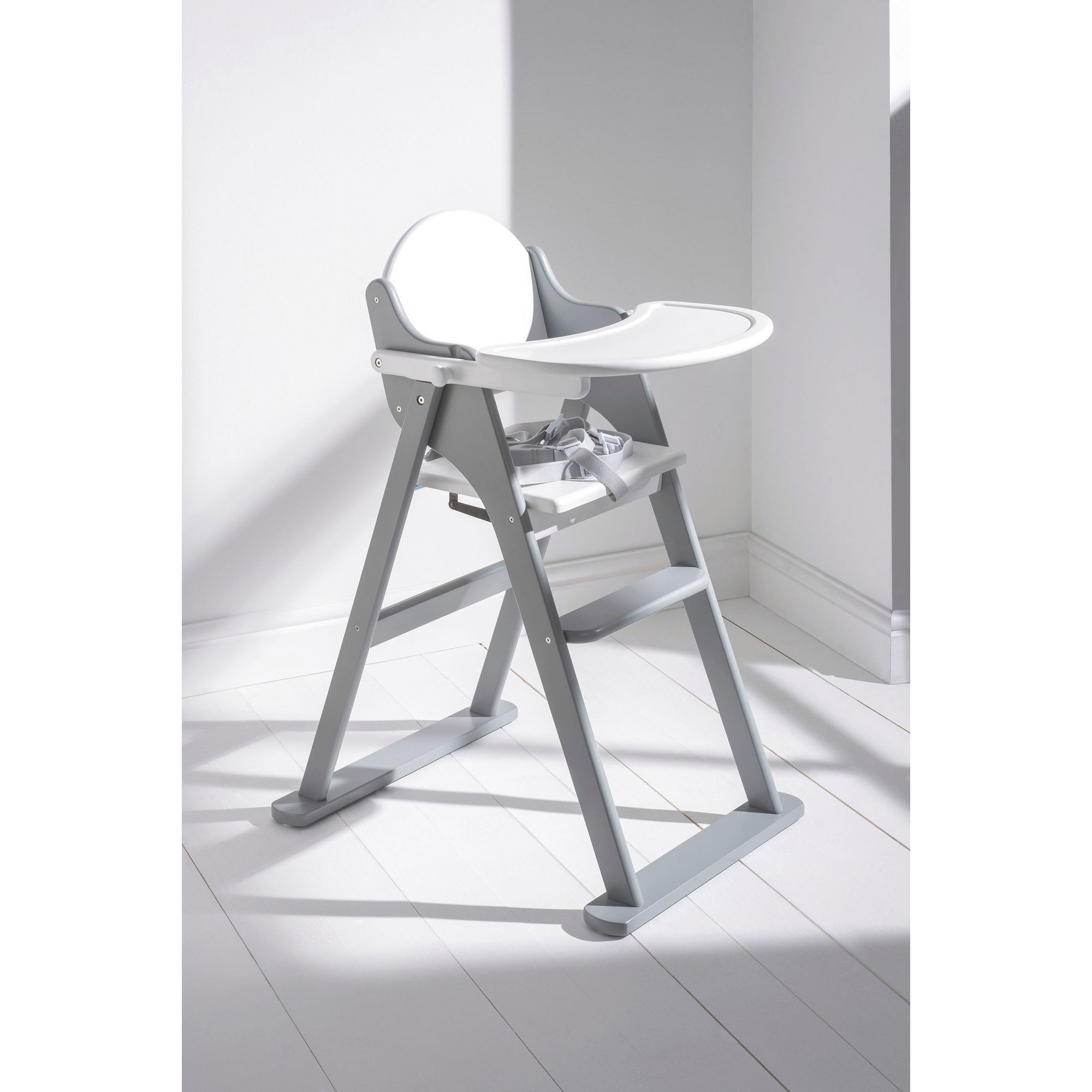 Image of Grey Folding Highchair