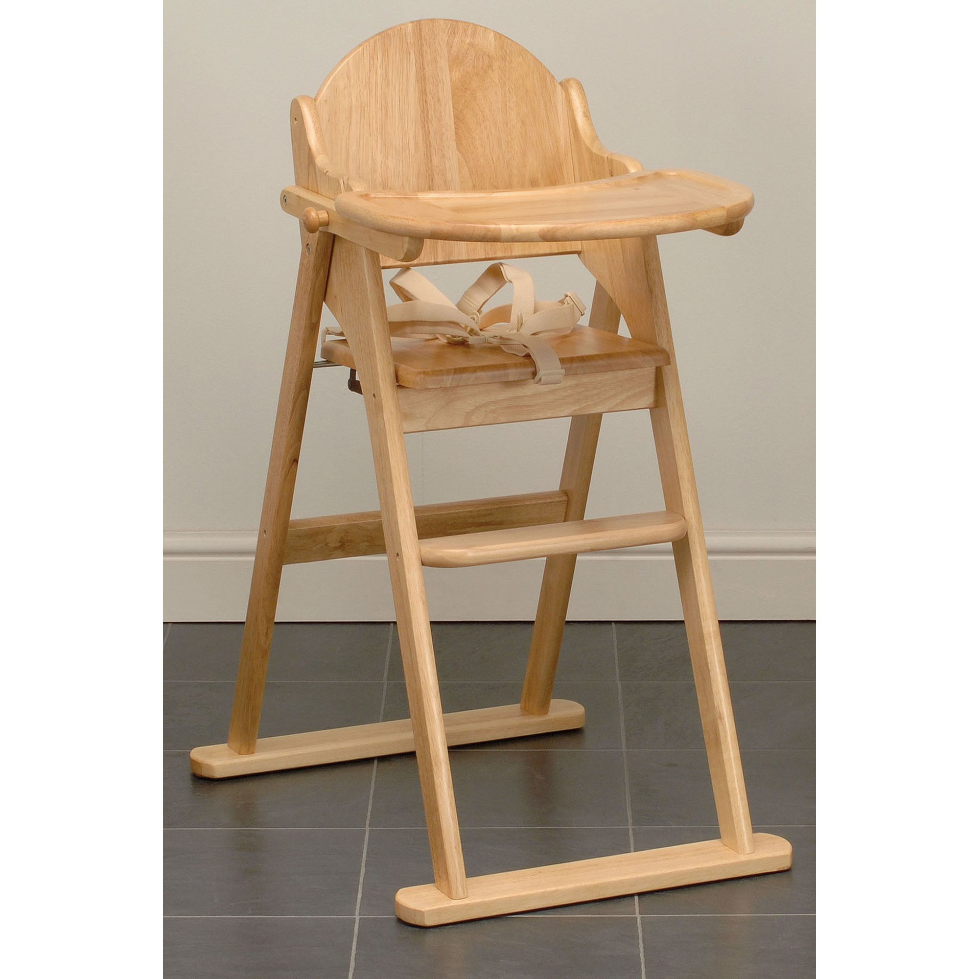 Image of Folding Wooden Highchair
