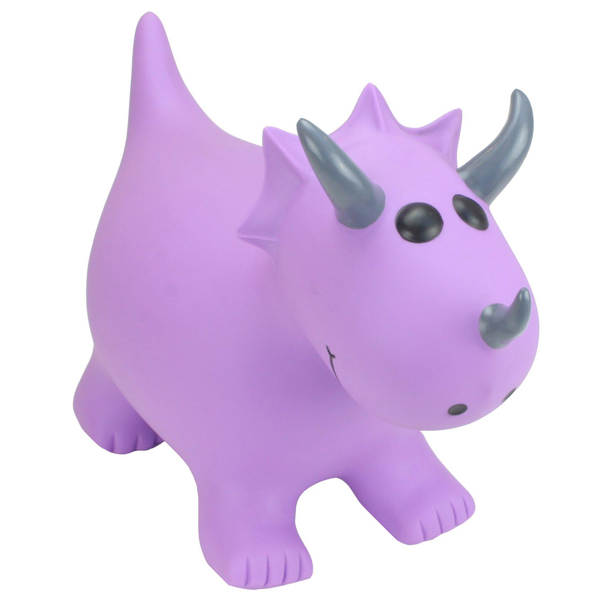 Image of Happy Hopperz Purple Dino Toy