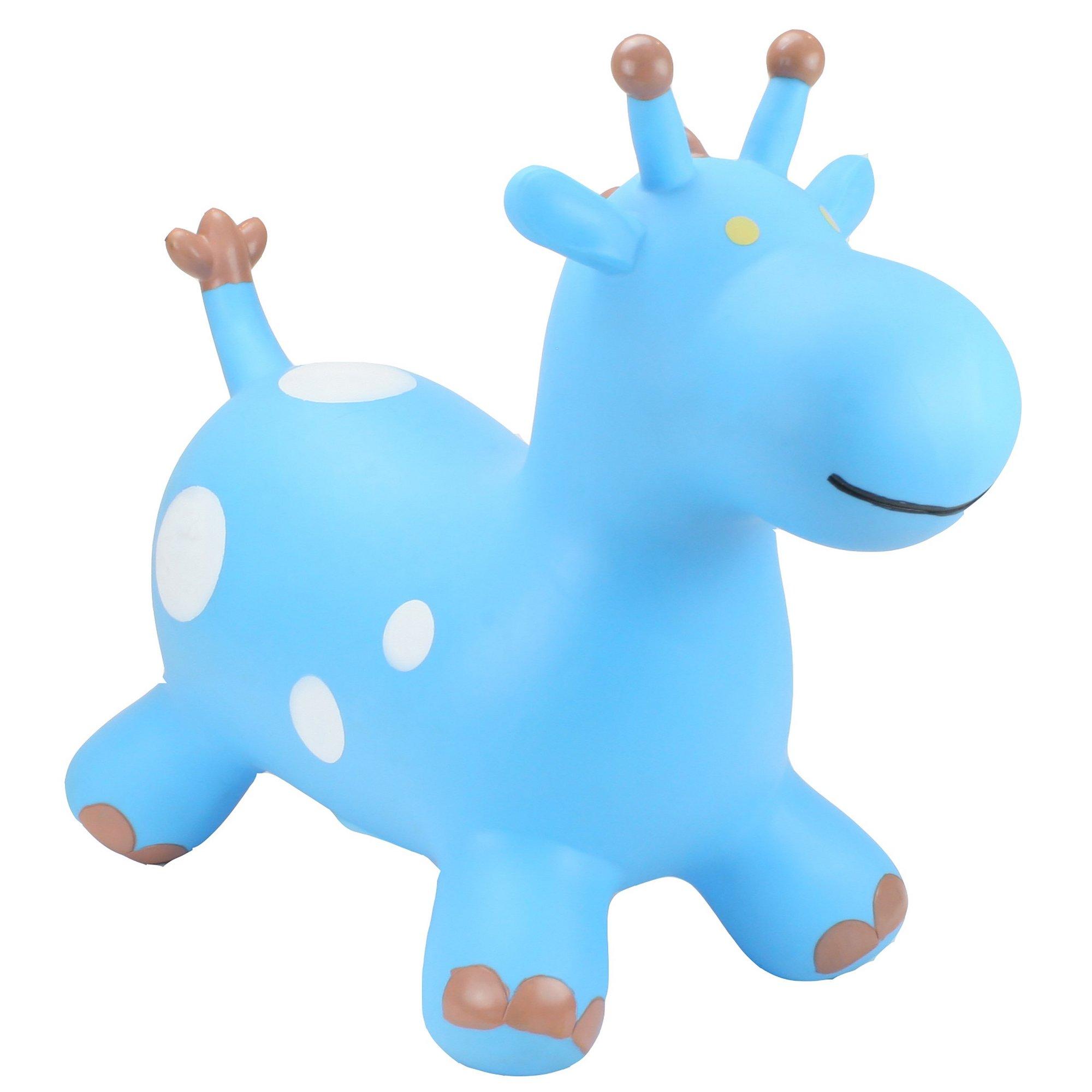 Image of Happy Hopperz Blue Giraffe Toy