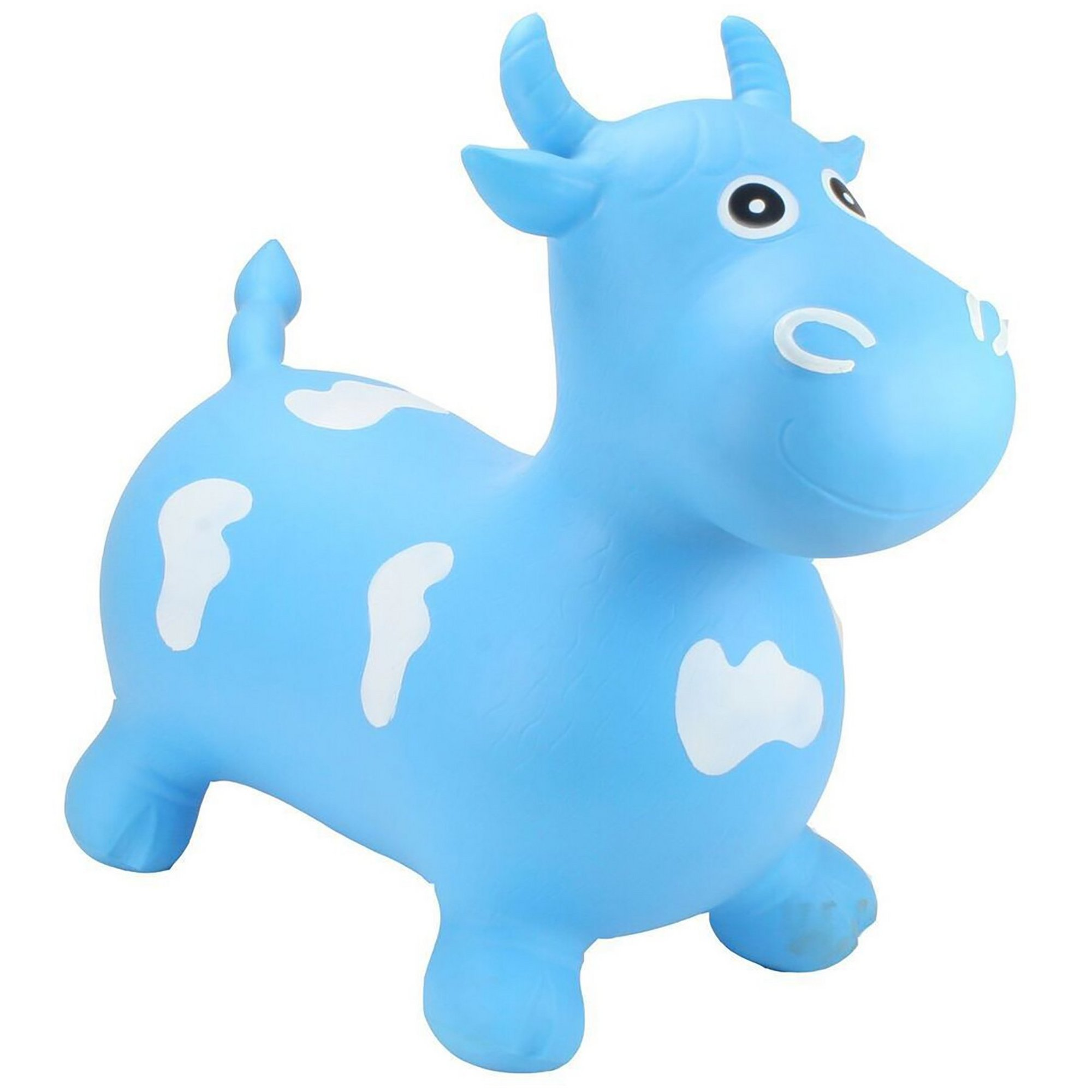 Image of Happy Hopperz Big Face Blue Bull Toy