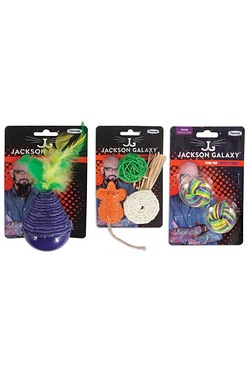 Jackson Galaxy Cat Toys Ball Natural And Bobbler