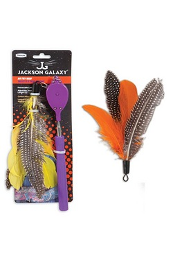 Jackson Galaxy Air Wand Toy And Replacement Feather Lure