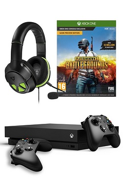 Xbox One X: 1TB + Player Unknown Battlegrounds + Xo Three Headset + Wireless Controller