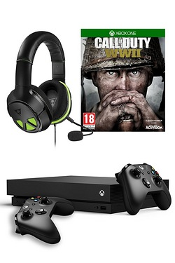 Xbox One X: 1TB + COD WWII + XO Three Headset + Wireless Controller