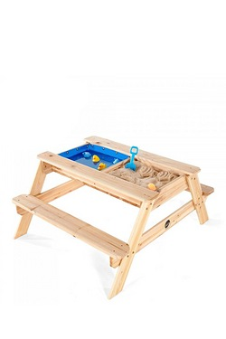 Plum Surfside Sand and Water Wooden Picnic Table