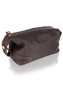 Woodland Leathers Large Brown Wash Bag
