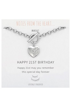 Notes From The Heart Happy 21st Birthday Bracelet