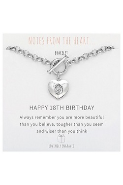 Notes From The Heart Happy 18th Birthday Bracelet