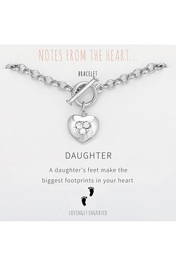 Notes From The Heart Daughter Bracelet