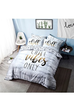 Chill Slogan Duvet Set