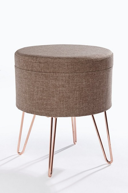 Danish Storage Footstool Studio