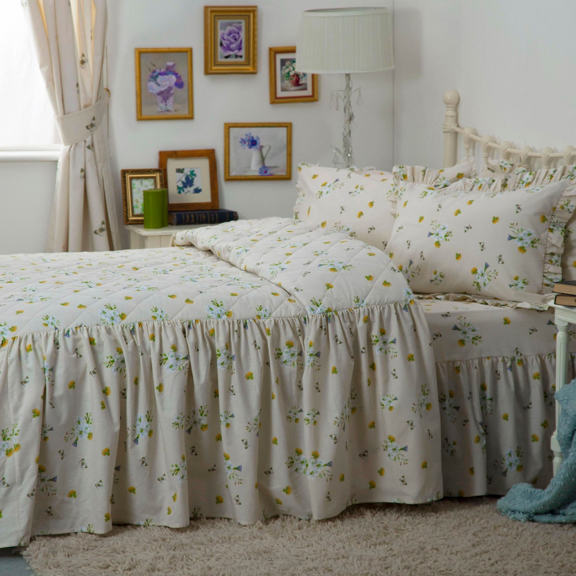 Image of Bluebell Meadow Fitted Bedspread