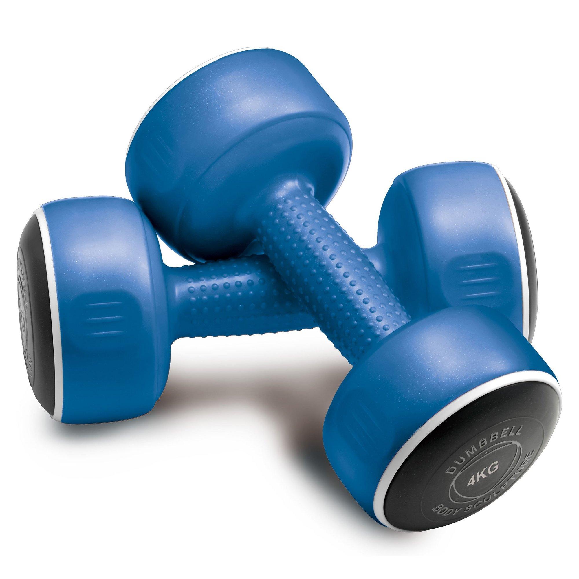 Image of Blue 4 Kg Smart Dumbbell Set - Set of 2