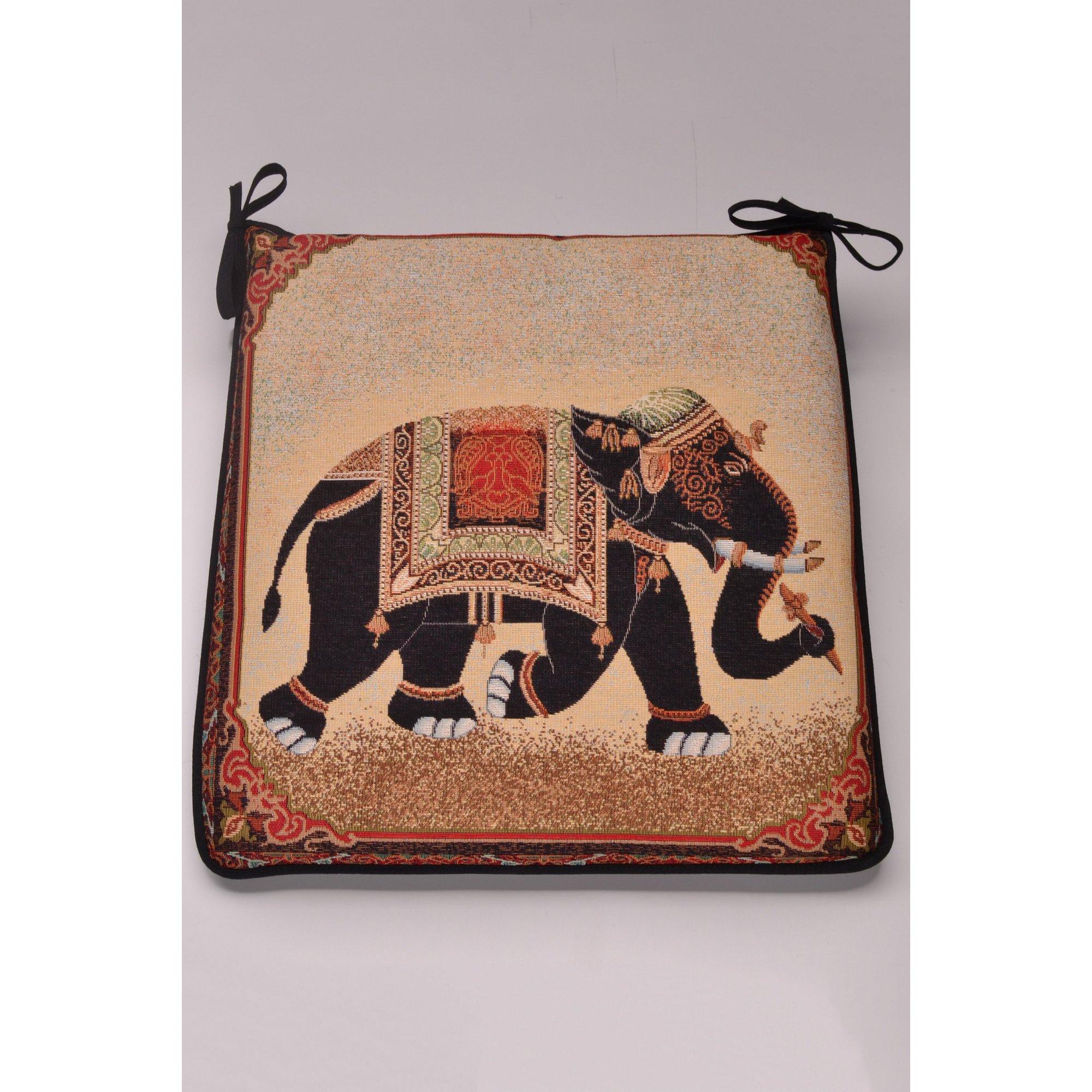 Image of Raj Tapestry H Elephant Seat Pad