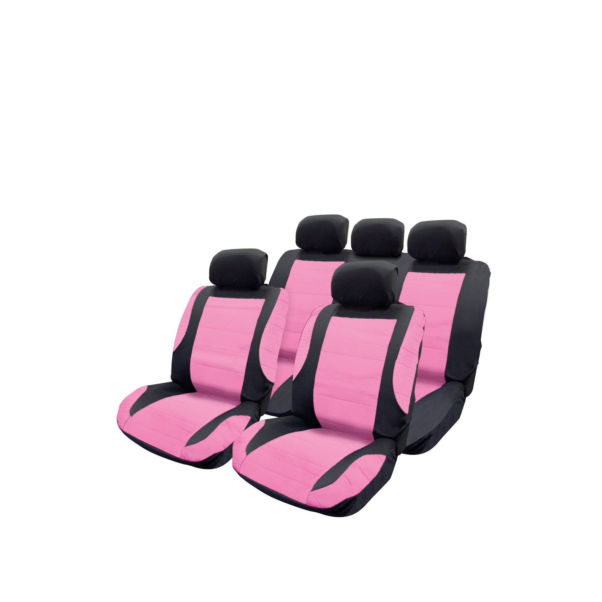 Image of Pink Leather Look Seat Cover Set