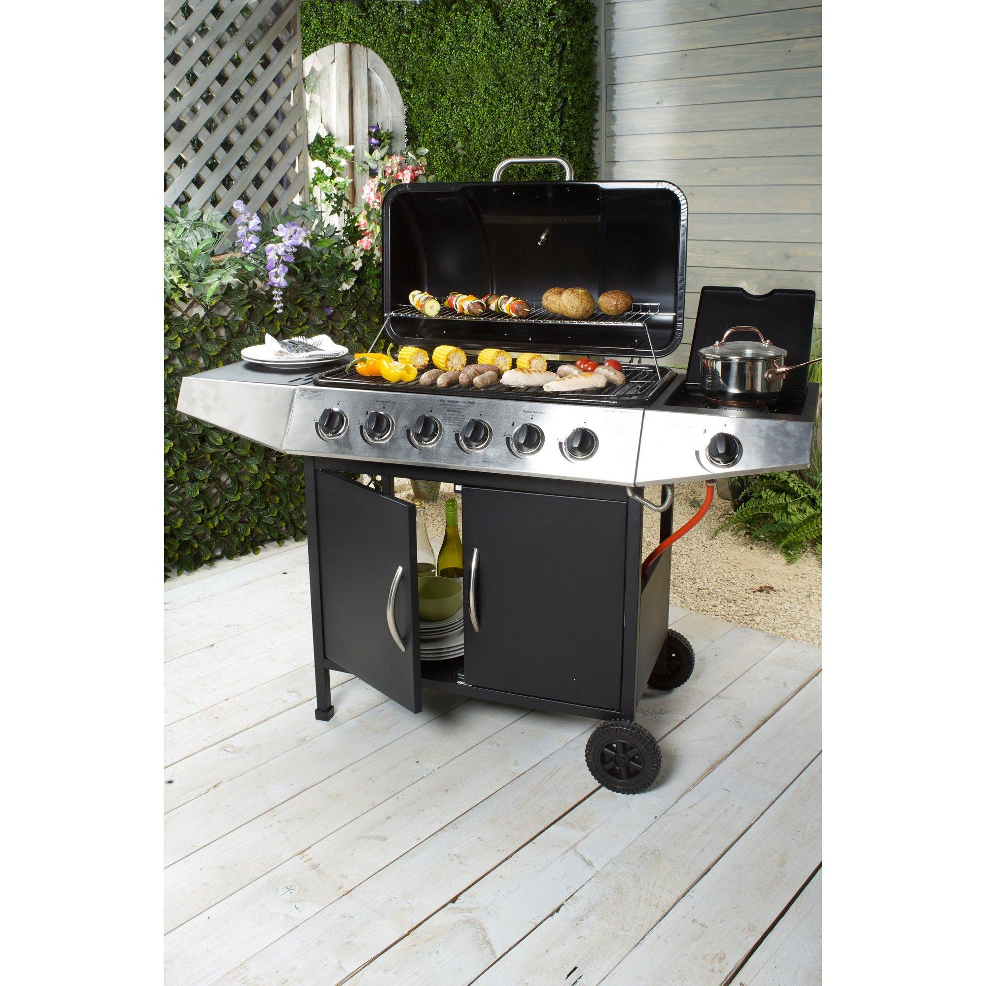 Image of 6 Burner Plus Side Burner Gas BBQ