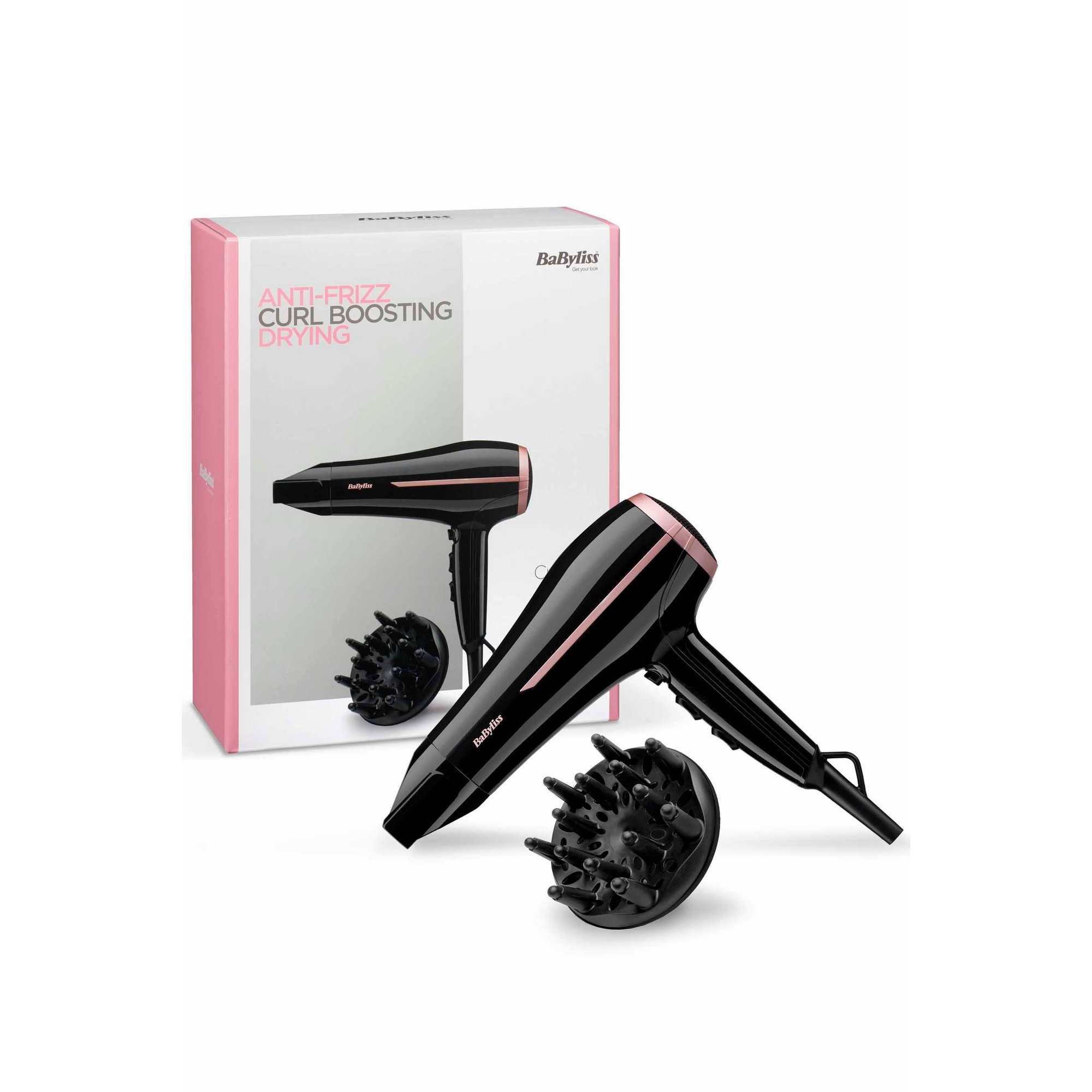 Image of BaByliss Anti Frizz Curl Boosting Hair Dryer