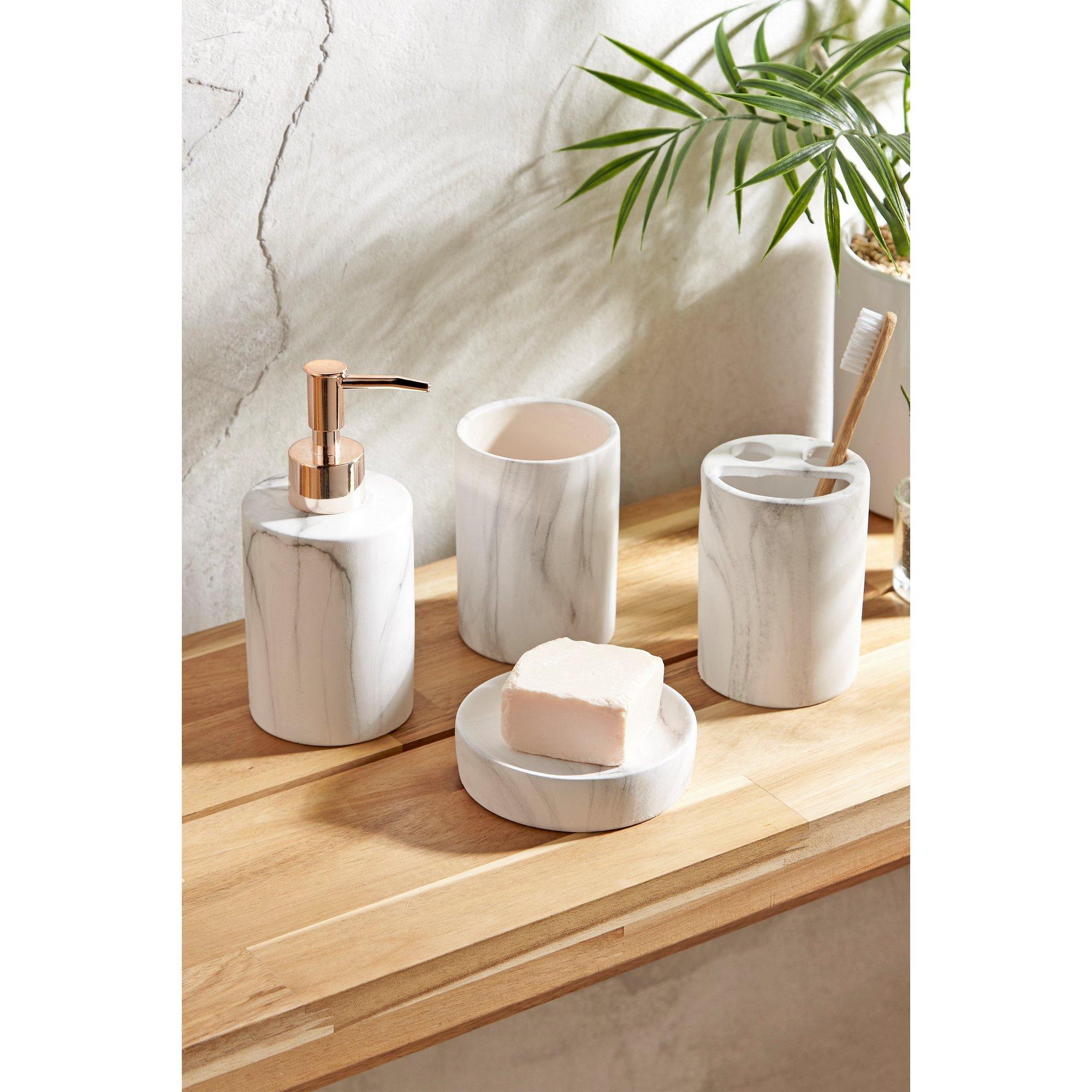 Image of 4-Piece Marble Bathroom Set