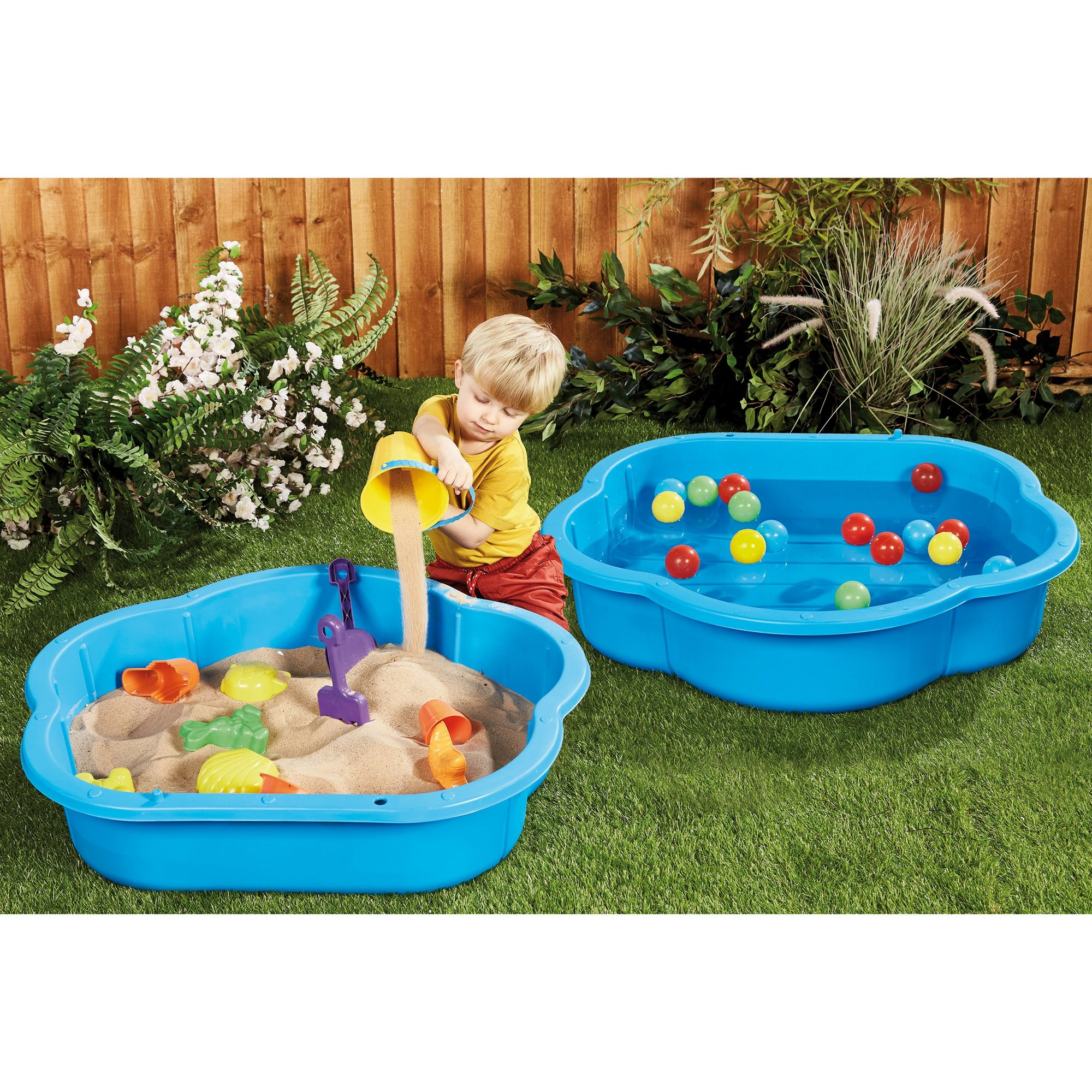 Image of Plastic Sand/Water Ball Pit and Skittles Set