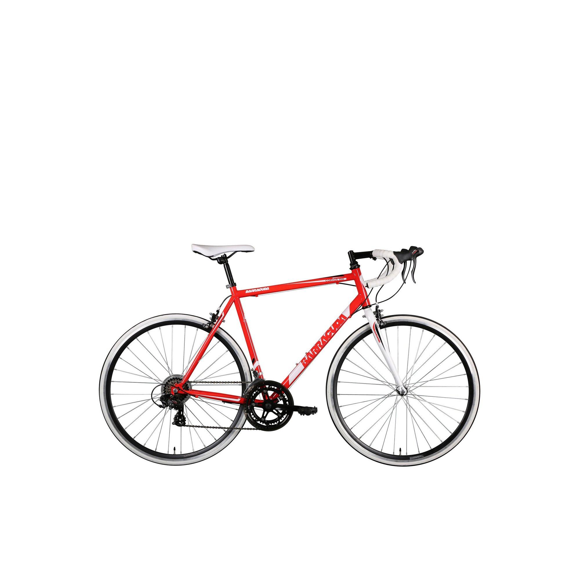 Image of Barracuda Corvus 100 Steel Road Bike STI Red/White