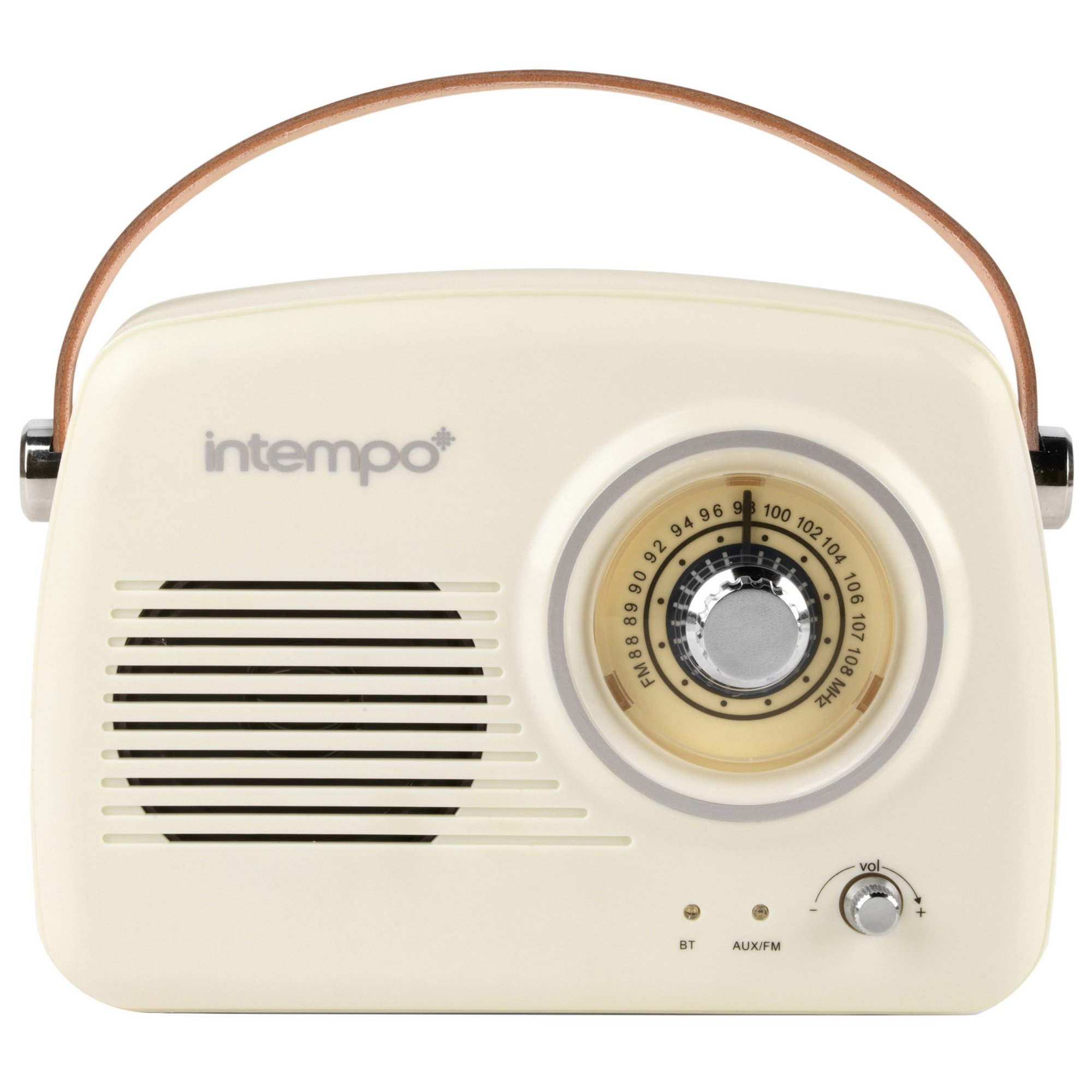 Image of Intempo Bluetooth Speaker with FM Radio and Leather Strap